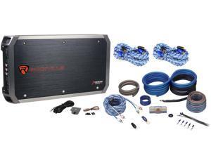 Rockville RXH-F5 1600W RMS 5 Channel Car Amplifier + Amp Kit+ 2 Free RCA Cables