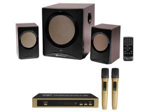 Rockville 2.1 Home Theater System+Karaoke Machine w/ Subwoofer+Bluetooth+2) Mics