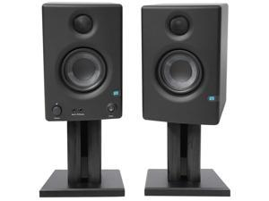 "Pair Presonus Eris E3.5 3.5"" Powered Active Studio Monitor Speakers+Desk Stands"
