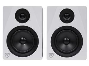 "Pair Rockville APM5W 5.25"" 250W Powered USB Studio Quality Bookshelf Speakers"