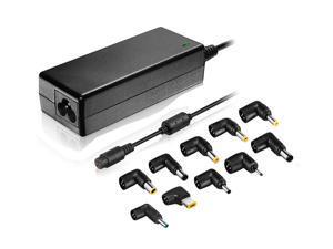 Xtrempro 65 Watt Universal Laptop Charger AC Power Adapter 15V/16V/16.5/18.5V/19V/19.5V/20V, Replacement Supply for HP Dell Toshiba IBM Lenovo Acer ASUS Samsung Sony Fujitsu Gateway etc- Black (11098)