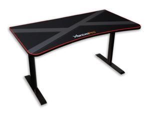 XtremPro 11159 Black Gaming Desk Table With 3 Monitor Display Area Mouse Pad