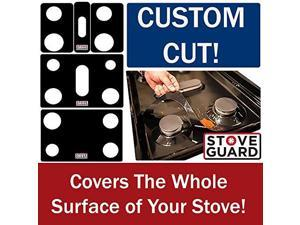 GE Stove Protectors - Stove Top Protector for General Electric JGBS66REK1SS Gas Ranges - Ultra Thin Easy Clean Stove Liner
