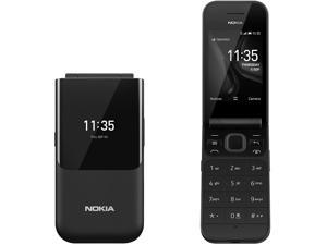 "Nokia 2720 Flip 4G 2.8"" Dual-core 2 MP Snapdragon 205 Phone, GSM Unlocked Chinese Model, No Warranty (Black)"