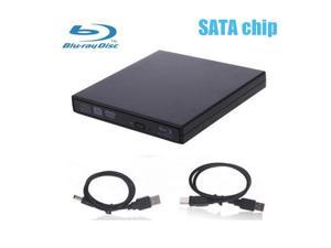 SATA Interface-External USB 2.0 Blu-ray Drive DVD-RW,BD-R BD-ROM Combo DVD CD RW Burner Writer Drive For windows Mac OS Linux(Black)