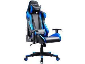 GTRacing Ergonomic Office Chair - Racing Seat, Height Adjustment, Pillows, Recliner, Swivel Rocker Tilt, for E-Sports, Computers, and Gaming