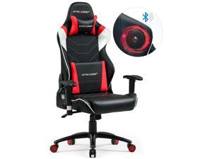 GTRACING Music Gaming Chair with Bluetooth Speaker {Patented} Audio Racing Office Chair Heavy Duty 400lbs Ergonomic ...