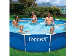 Intex 396*84 cm Metal Frame Set Above Ground Swimming Pool with Filter | 28211EH