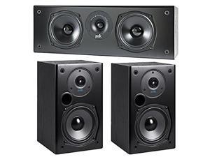 Polk Audio T30 Center Channel Speaker Black With T Series T15