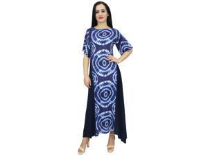 18b0a94fe471 Bimba Women s Shibori Printed Rayon Summer Casual Boho Holiday Maxi Dress-6