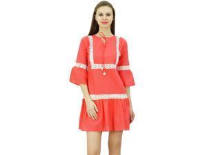 221412e6f4a Bimba er Boho Short Dress Ruffle Sleeve Mini ...