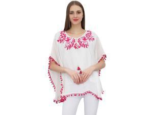 479aebf7ad77 Bimba Womens White Tunic Top Long Loose Fit ...