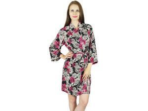 3578e9b945 Bimba Women Short Rayon Robe Floral Print Getting Ready Wrap Bridesmaid Gift
