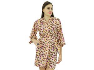 Bimba Women Short Robe Cotton Wrap Printed ... 7a10d04d1