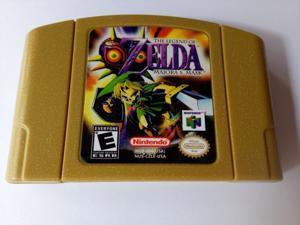 Hologram Cover & Gold Cart The Legend of Zelda: Majora's Mask N64 Game Cartridge for N64 Console