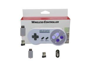 2.4GHZ Wireless Controller Gaming Joystick Gamepad for Super Nintendo Classic SNES Game Console, IOS, Android Box, Window