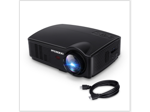 PFERDEKI Mini Projector 4500 Lumens Portable Business Projector Full HD Office Video Projector with 1080P Support, Compatible with HDMI, USB, VGA, AV, Laptop for PC Smartphone Computer iPad