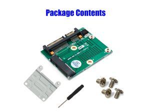 Msata SSD to SATA 2.5''Adapter Card With Metal Extension Bracket