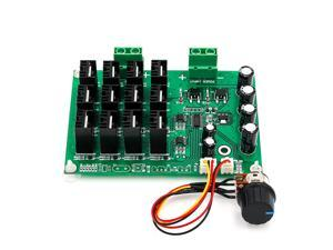 Motor Speed Control Board, DC 10-50V 60A High Power Motor Speed Controller PWM HHO RC Driver Controller Module 12V 24V 48V 3000W Extension Cord with Switch