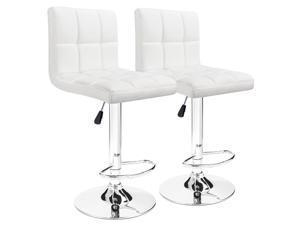 c869bf4d59ed Furmax Bar Stools White Modern Pu Leather Swivel Adjustable Hydraulic Bar  Stool Square ...