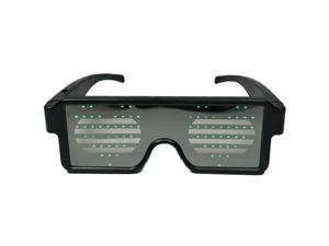 d8583a0949 WEIMISEN Favor de partido crecer de LED gafas, opcional de patrón de  pantalla 8,