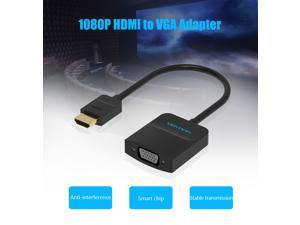 HDMI to VGA Adapter, Vention Gold Plated Active HDMI to VGA Converter(Male to Female) with Audio and Power Supply Digital Audio Video Adapter for TV Stick,Laptop,Raspberry Pi,Xbox,PS4