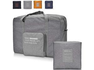For Spirit Airlines Foldable Travel Duffle Bag Tote Carry on Luggage - Grey
