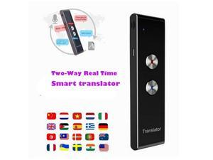 Portable Smart Voice Speech Translator Two-Way Real Time 30 Multi-Language Translation For Learning Travelling Business Meeting Silver Gray