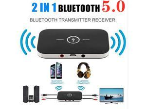2in1 Bluetooth 5.0 Transmitter & Receiver Wireless A2DP Audio Adapter Aux 3.5mm Audio Player for TV / Home Stereo /Smartphone