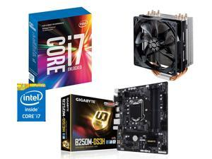 Intel Core i7 7700K + Gigabyte GA-B250M-DS3H Motherboard, Fan, and CPU Combo Kit