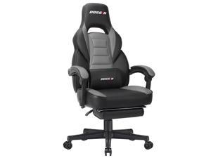 BOSSIN Racing Style Gaming Chair Office Computer Desk Chair with Footrest and Headrest, Ergonomic Design, Large Size ...