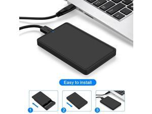 2TB Portable 2.5'' USB 3.0 External Hard Drive Disk Storage Devices Black