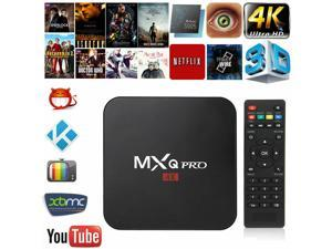 MXQ Pro 4K Updated Stream Media Android 7.1 TV Box Quard Core Wi Fi UHD Movies
