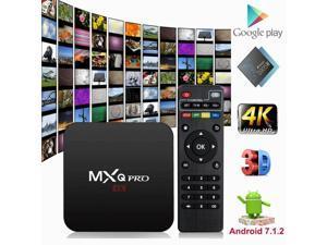 MXQ Pro Android Smart TV Box 8G Quad Core 4K HD 2.4GHz WiFi Media Player