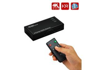 XOLORspace 23031 HDR 3x1 HDMI Switch supports 4k 60HZ 4:4:4 8bit, compliant with HDCP 2.2. Perfect compatible with PS 4 PRO, XBox One S, Roku 3, newest Samsung, Sony, Panasonic TVs