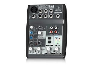Behringer XENYX 502 5-Channel Compact Audio Mixer - Black