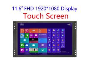 11.6 inch Industrial Display Touch Monitor 1920*1080 FHD Wide View Open Frame Capacitive Touch Screen Display with VGA/HDMI Speakers