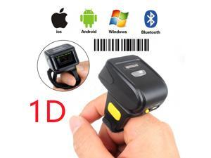 Nexanic Mini Wireless 1D Barcode Scanner Wearable Bluetooth 1D Bar Code Reader Ring Barcode Scanner