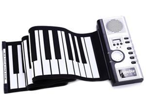 Portable 61 Keys Electronic Roll Up Piano Flexible Silicone HandRoll Keyboard