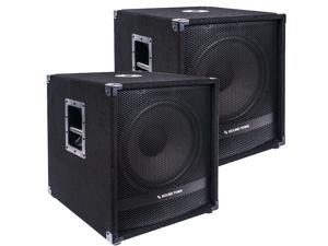 """Sound Town 2-Pack 15"""" 3200 Watts Powered Subwoofers with DSP, DJ PA Pro Audio Sub with 4-inch Voice Coil (METIS-15SPW-PAIR)"""
