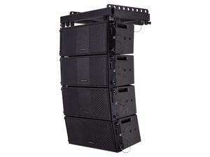 Sound Town ZETHUS Series Line Array Speaker System with Four Compact 2 X 8-inch Passive Line Array Speakers, Black for Installation, Live Sound, Bar, Club ZETHUS-208BV2X4