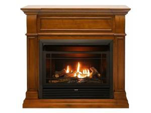 Duluth Forge Dual Fuel Ventless Gas Fireplace - 26,000 BTU, T-Stat Control, Apple Spice Finish