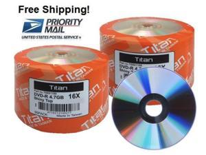 SPECIAL! 100-Pack Titan 16X SHINY TOP DVD-R Disc 4.7GB