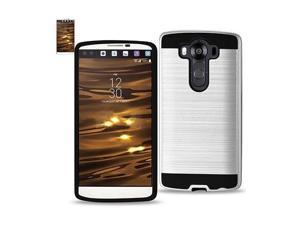 For LG V10 Case Hybrid Metal Brushed Shockproof TPU ...