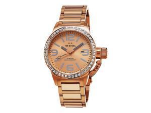 c88d88a9686 TW Steel Women s Canteen Rose Gold Tone Stainless Steel Quartz Date Watch  TW305