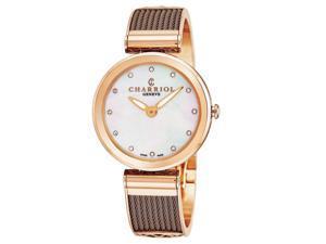 9eec84e9ec5 Charriol Women s Forever Diamond Dial Stainless Steel Quartz Watch  FE32602005