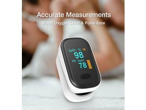 LED Fingertip Pulse Oximeter Blood Oxygen Saturation SPO2 Heart Rate Monitor