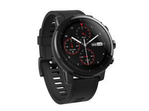 Amazfit Stratos Multisport Smartwatch by Huami with VO2max, All-day Heart Rate and Activity Tracking, GPS, 5 ATM Water Resistance, Phone-free Music, US Version and Warranty (A1619, Black)