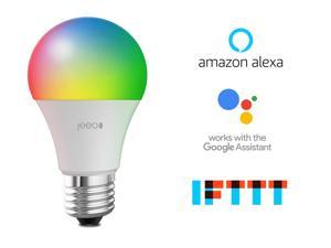 Jeeo Smart Wi-Fi LED Color Light Bulb, 800 Lumens/60W Equivalent, Dimmable, Compatible with Alexa and Google Home, Jeeo Smart Home App Remote Control