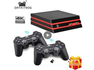 DATA FROG Game Console With 2.4G Wireless Controller HDMI Video Game Console 600 Classic Games For GBA Family TV Retro Game BLACK +Wireless controller